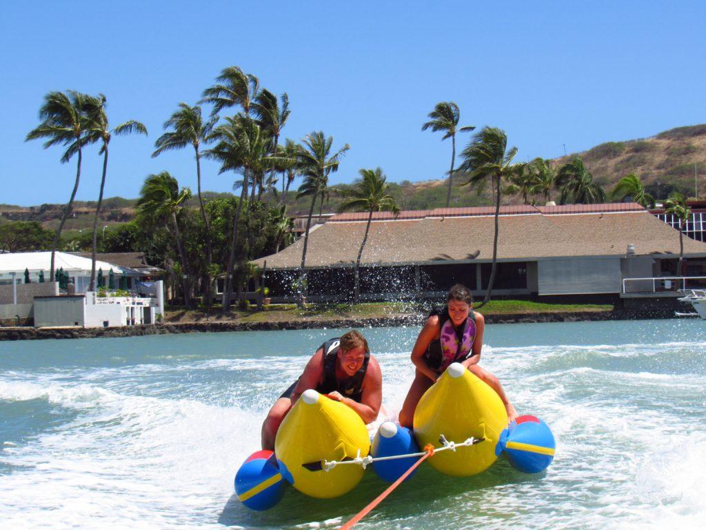 water spot, banana boat