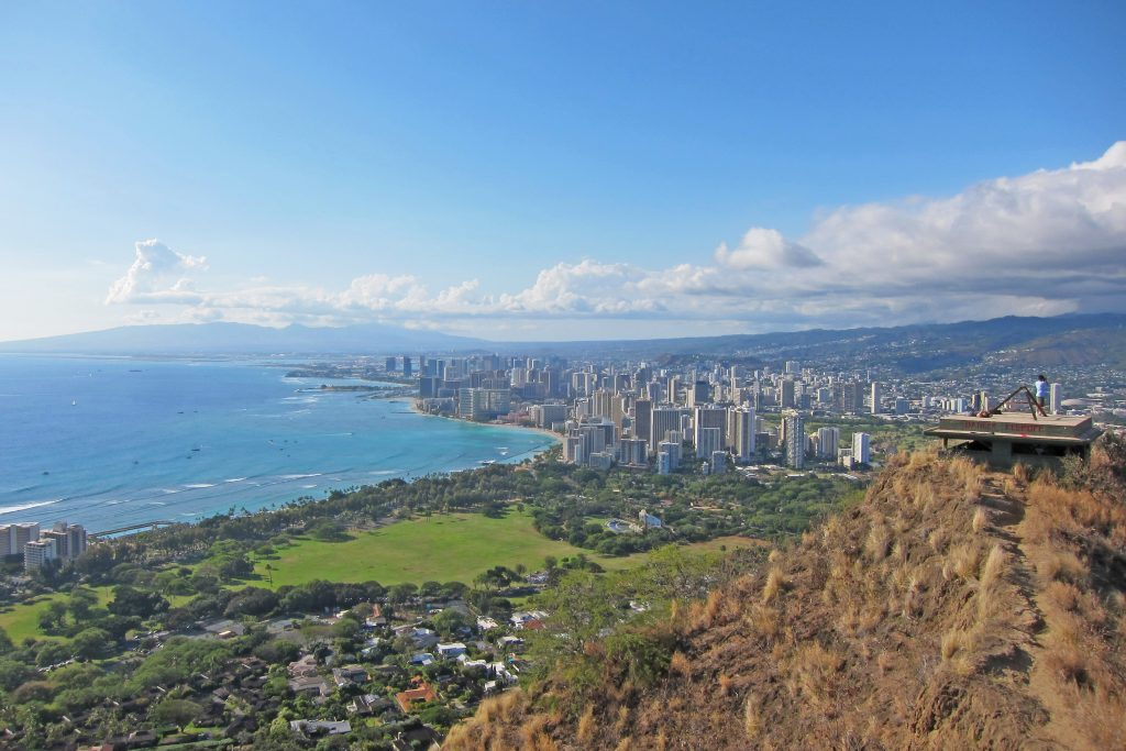Diamond Head Lookout Oahu, Hawaii