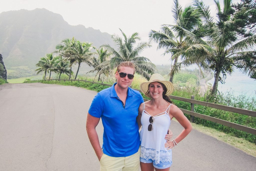 couple on Honeymoon in Oahu