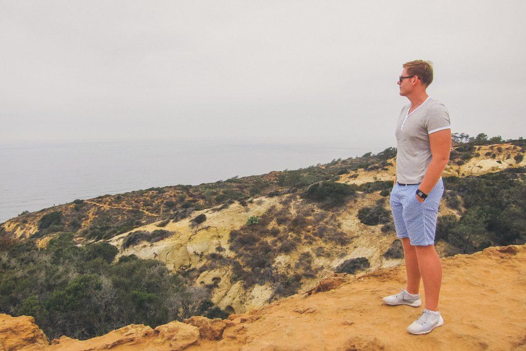 man visits Torrey Pines reserve in San Diego
