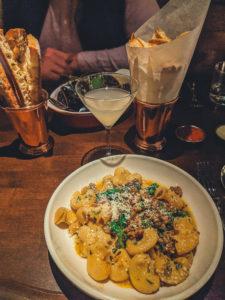 dinner at guit bar