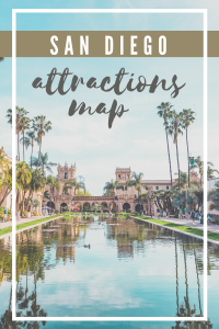 san diego map of attractions pin