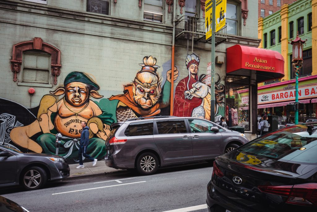 mural in Chinatown San Francisco