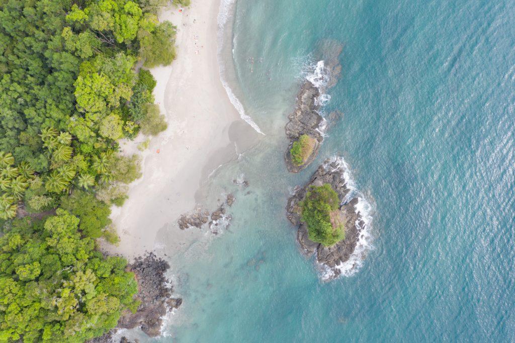 drone view of Manuel Antonio