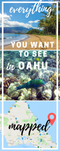 oahu attractions map pin
