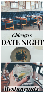 Date Night Restaurants in Chicago pin