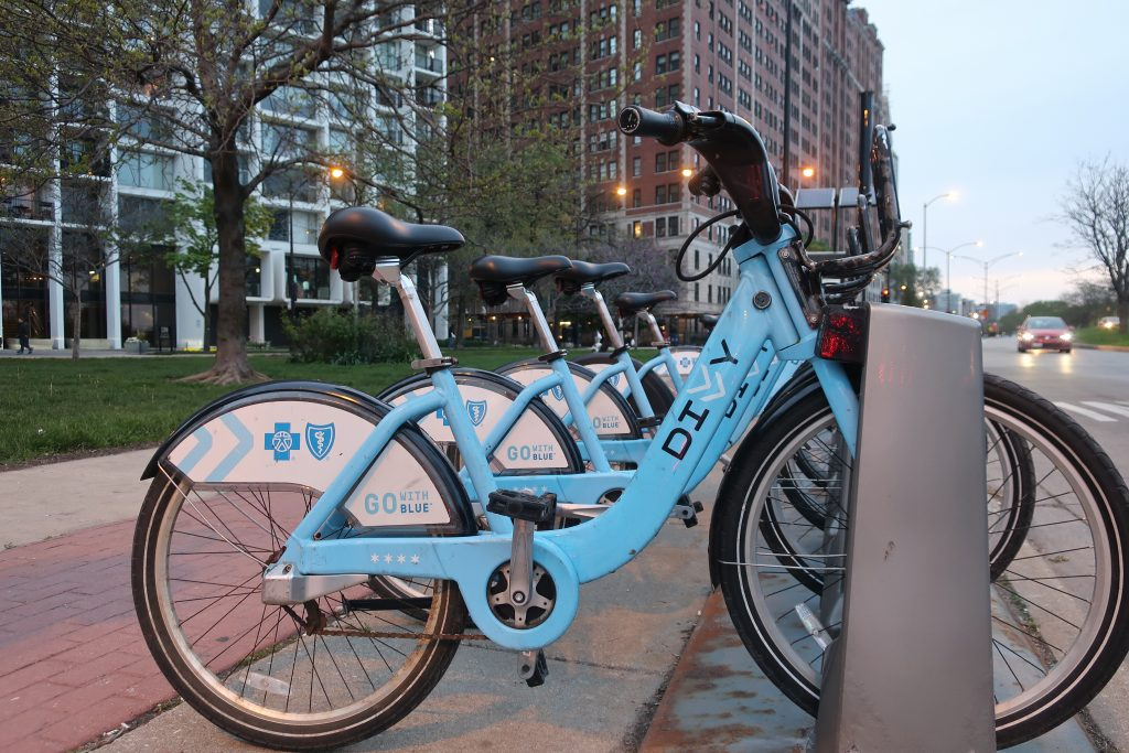 Divvy Bike station in Chicago