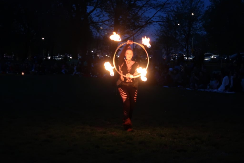fire hooper at full moon jam