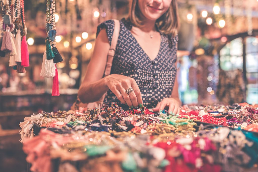 shopping for jewelry