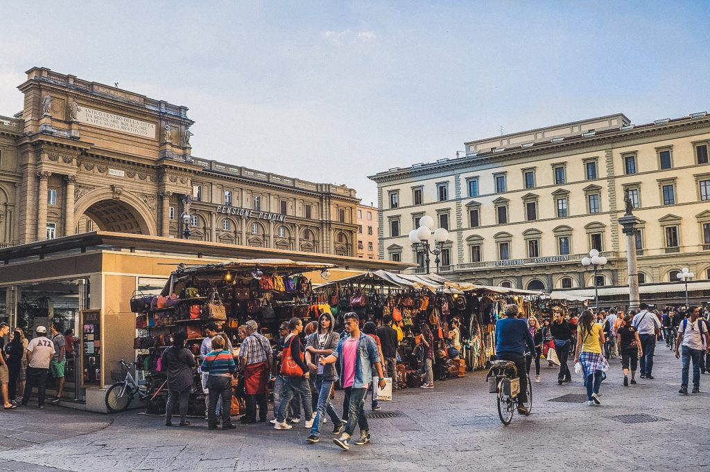San Lorenzo Leather Market in Florence
