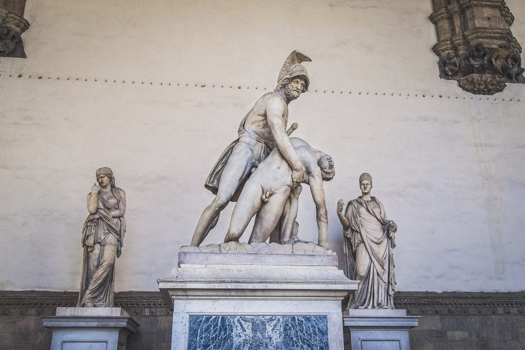 sculptures of the Loggia dei Lanzi