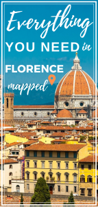 Tourist Map of Florence Pin