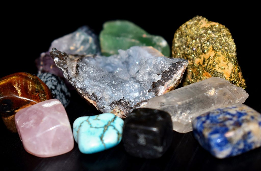 collection of gemstones in various colors