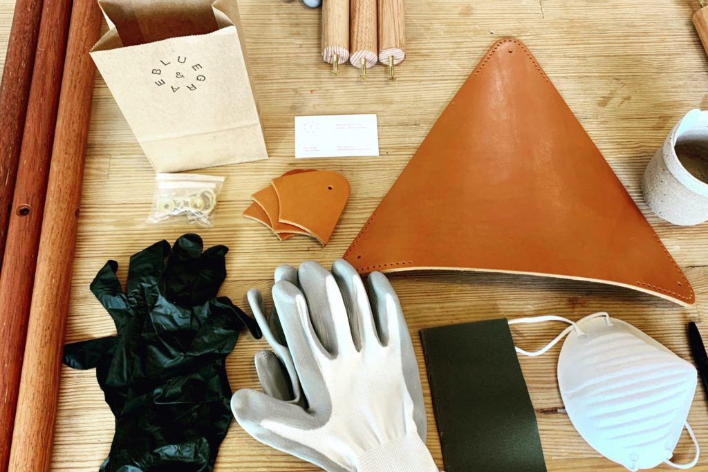 preparations for leather work