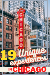 unique experiences in Chicago pin