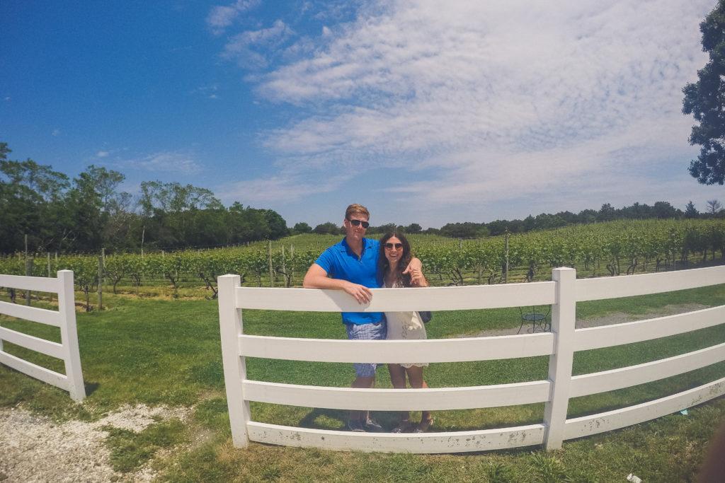 couple at Truro Vineyards