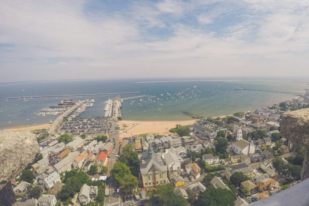 view from the top of the Pilgrim Monument