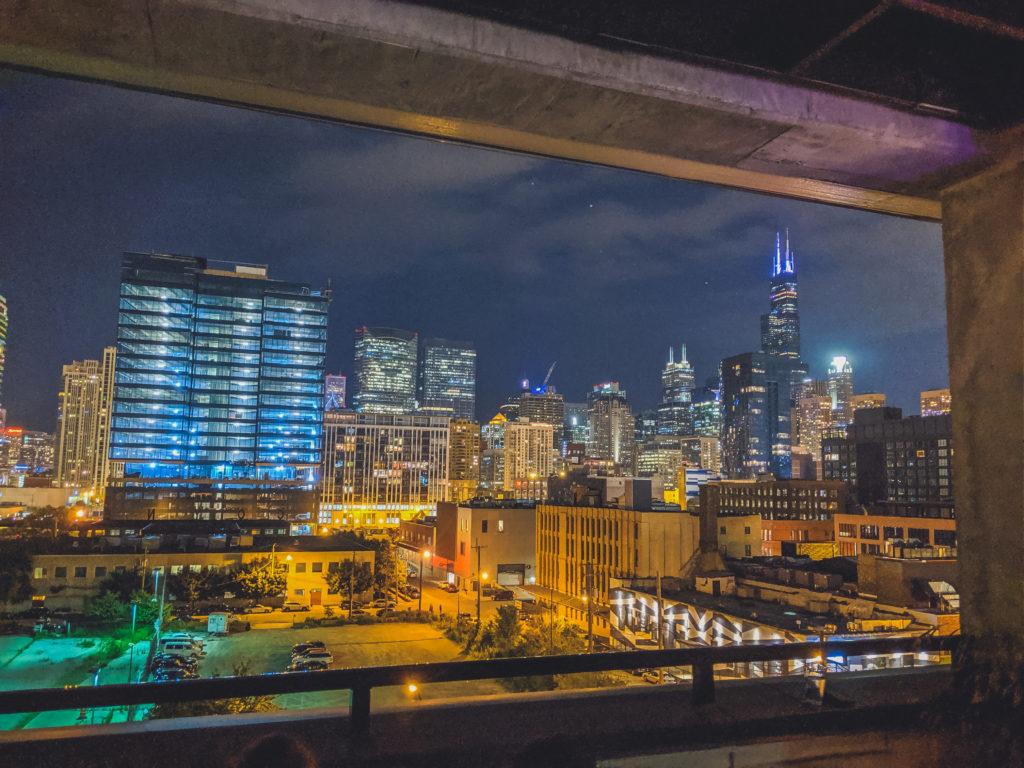 view of Chicago from Waydown Nightclub