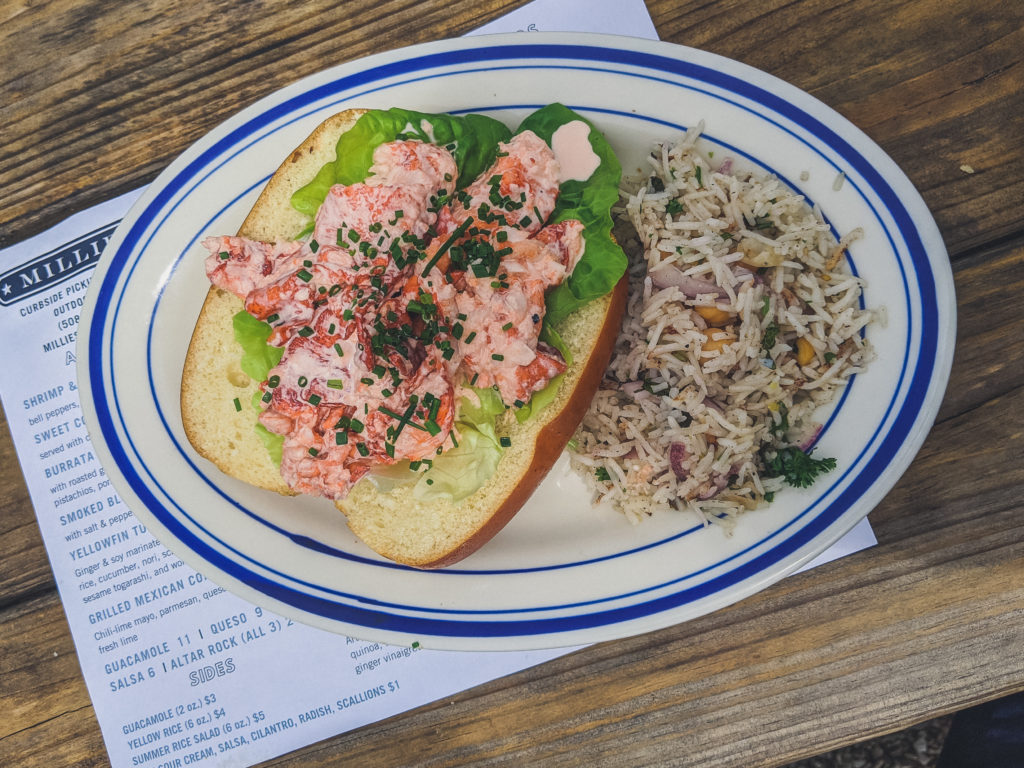 Lobster roll from Millie's in nantucket
