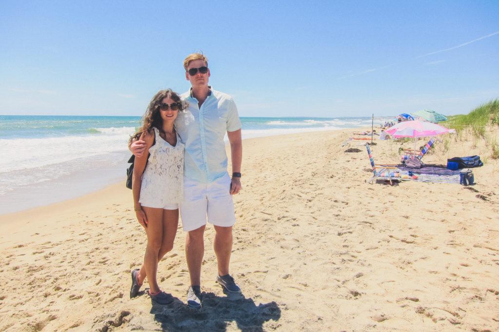 couple on a beach in Martha's Vineyard