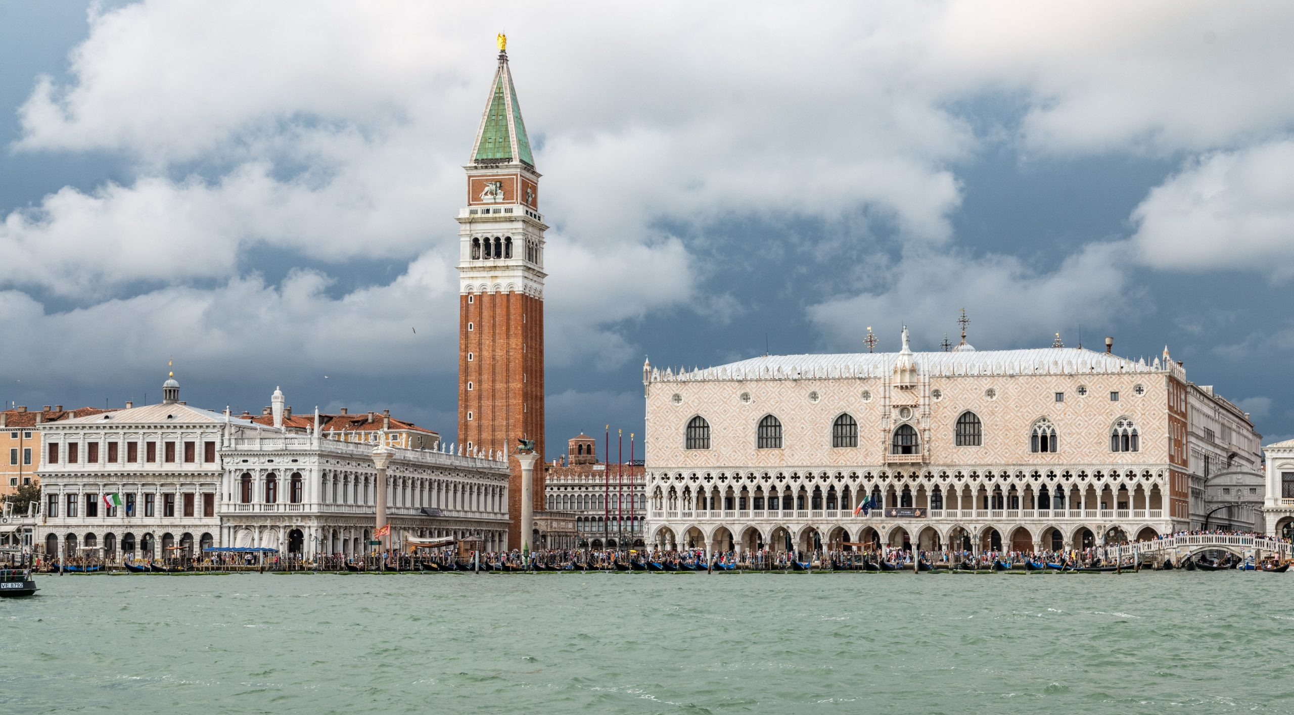 view of St. mark's square and Dodge's palace from the water
