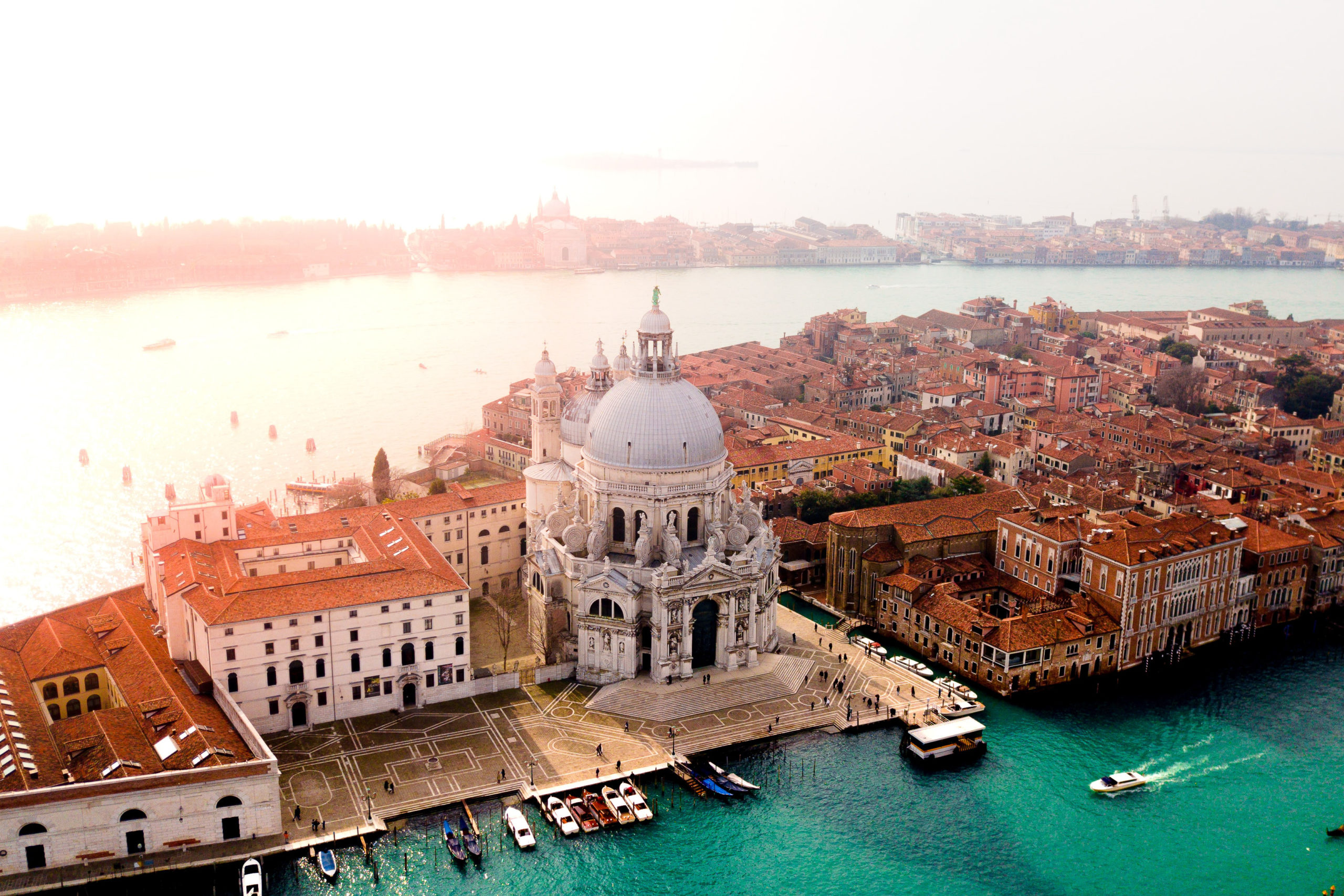 areal view of Venice Italy
