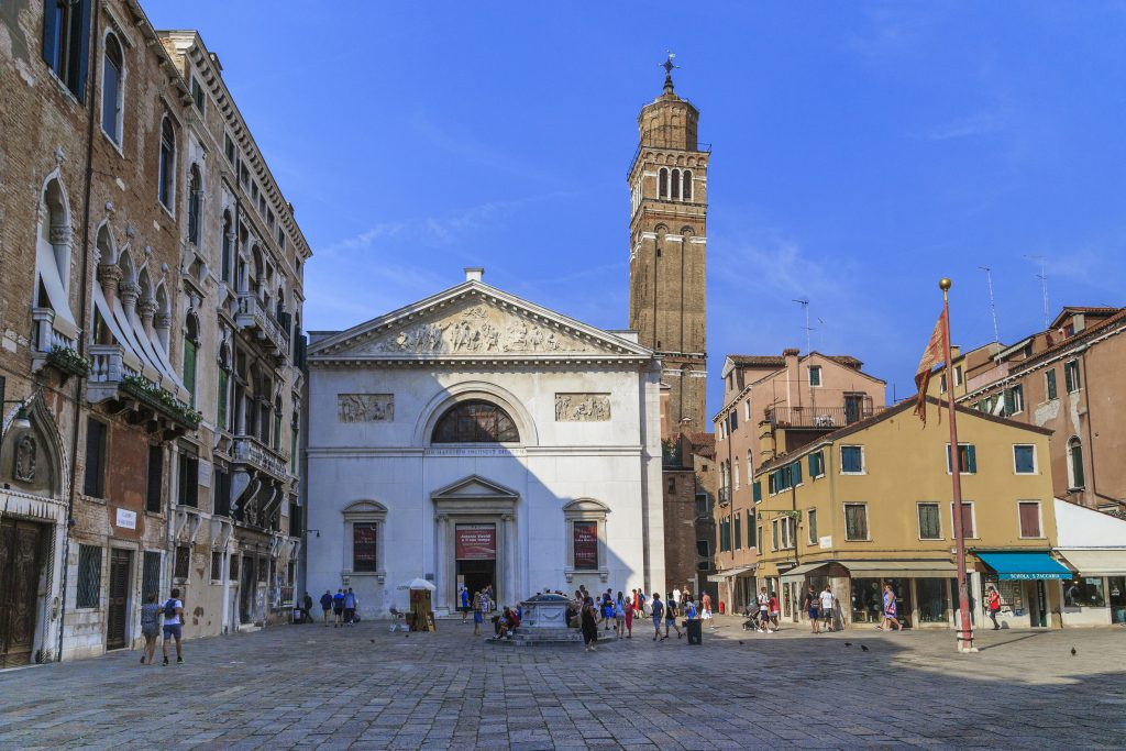This is the building of the church of San Maurizio in the San Marco district, which currently houses the Museum of Music.