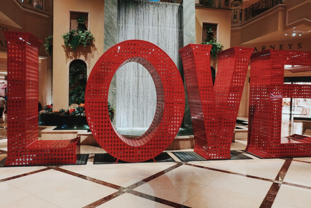 Love, at the Venetian Hotel