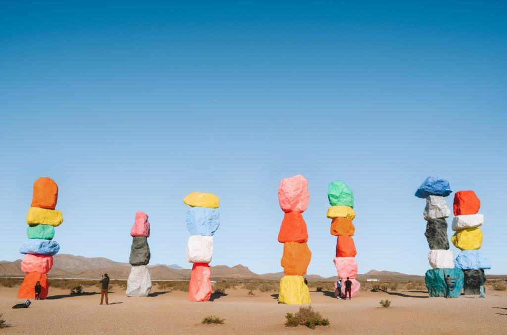 Seven Magic Mountains in Las Vegas, psychedelic stones