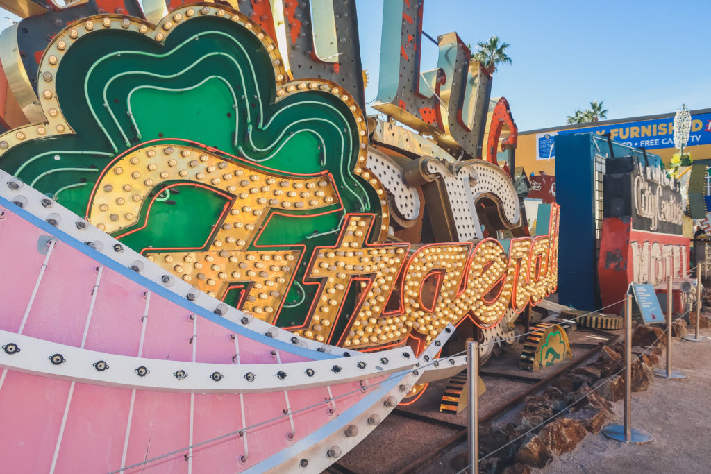neon signs at the Neon Museum in Las Vegas