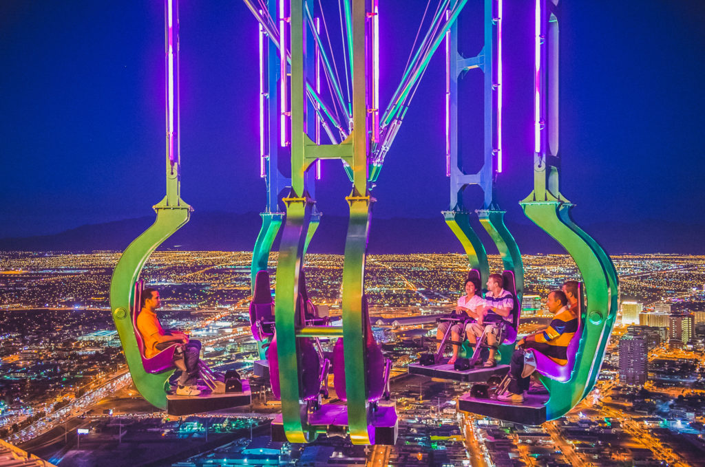 ride at the Stratosphere Hotel