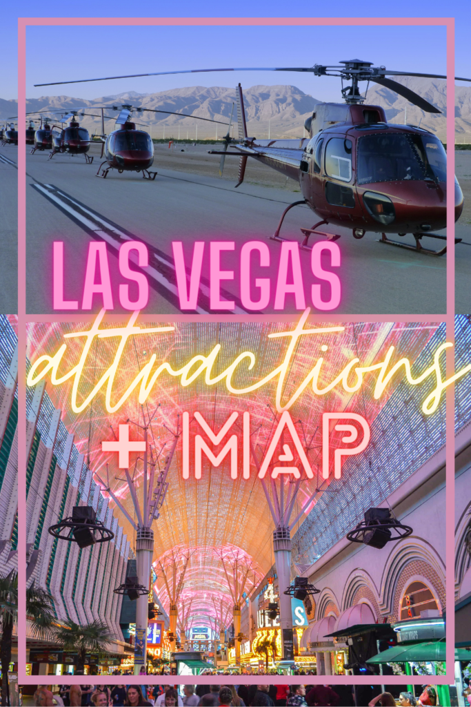 Las Vegas attractions map pin