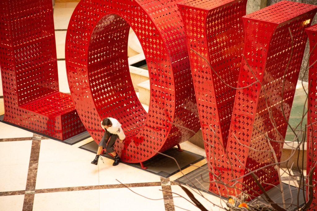 LOVE art instillation at the Venetian Hotel