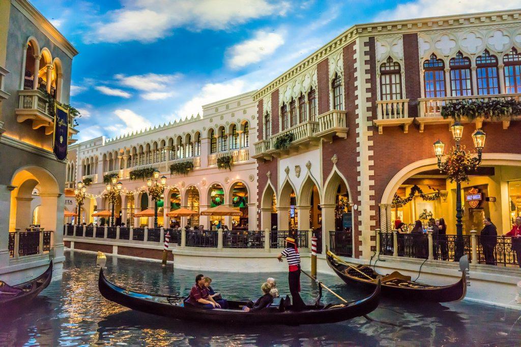 gondola ride at the Venetian Hotel in Las Vegas