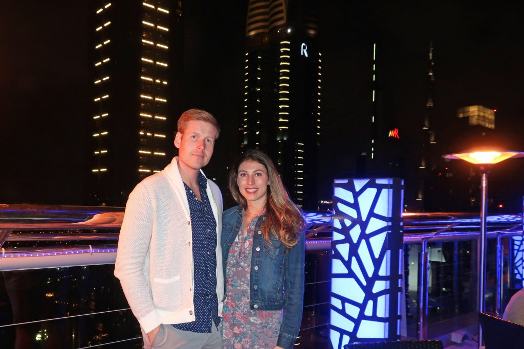 couple at Dubai rooftop