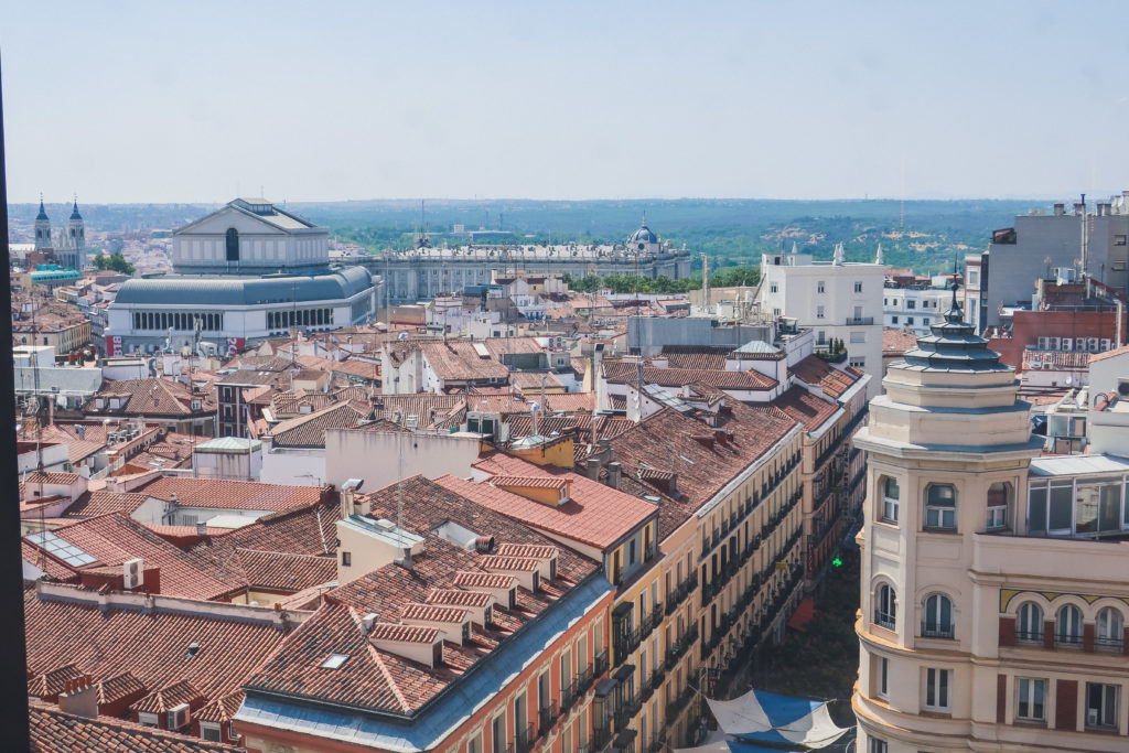 rooftops over Madrid