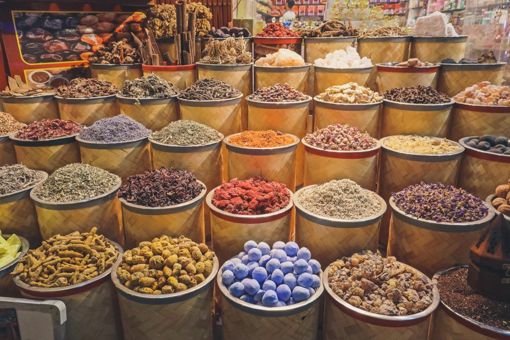 spices at the Dubai spice souk