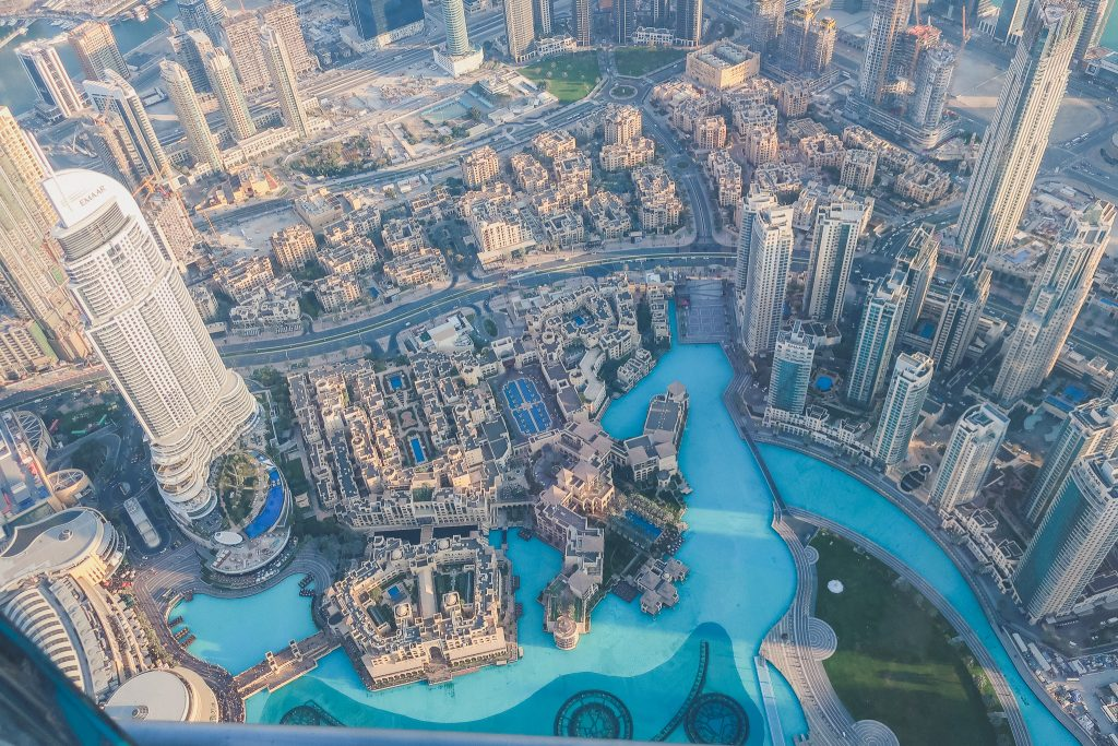 views from the top of the Burj Khalifa