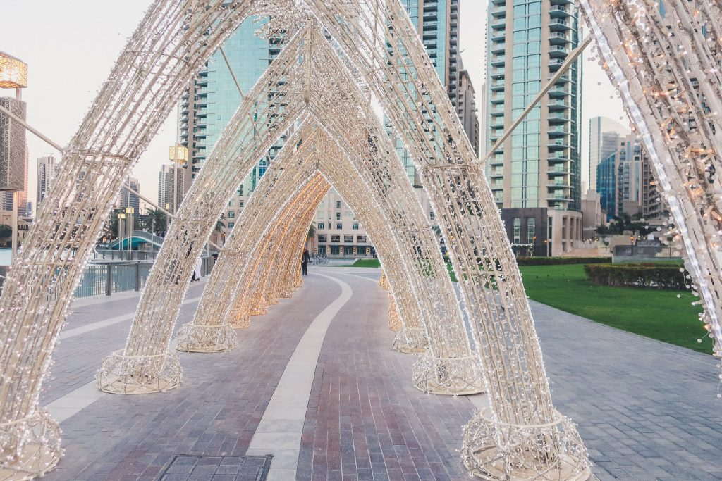 Burj Park in Dubai, art instillation