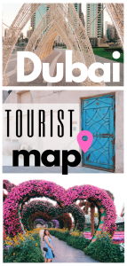 Tourist map of Dubai pin