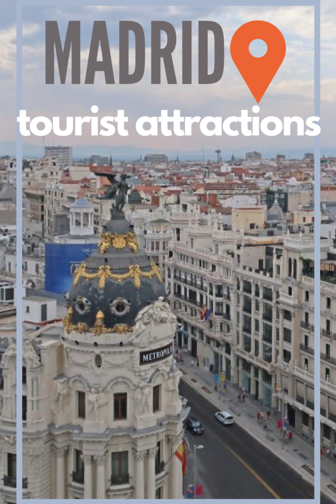 Madrid tourist attractions map pin