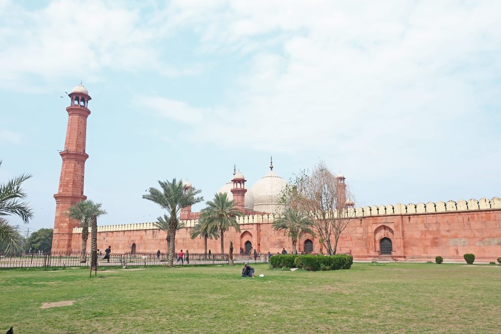 Badshahi Mosque from Food Street Lahore