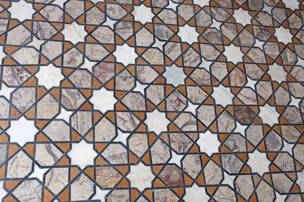 floor of part of the Lahore fort near the shesh mahal