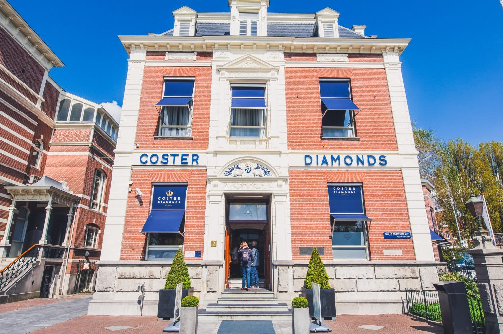: The Diamond Museum Amsterdam on April 30,2015, the Netherlands. The Diamant Museum is a diamond-themed museum located in the city's museum quarter.