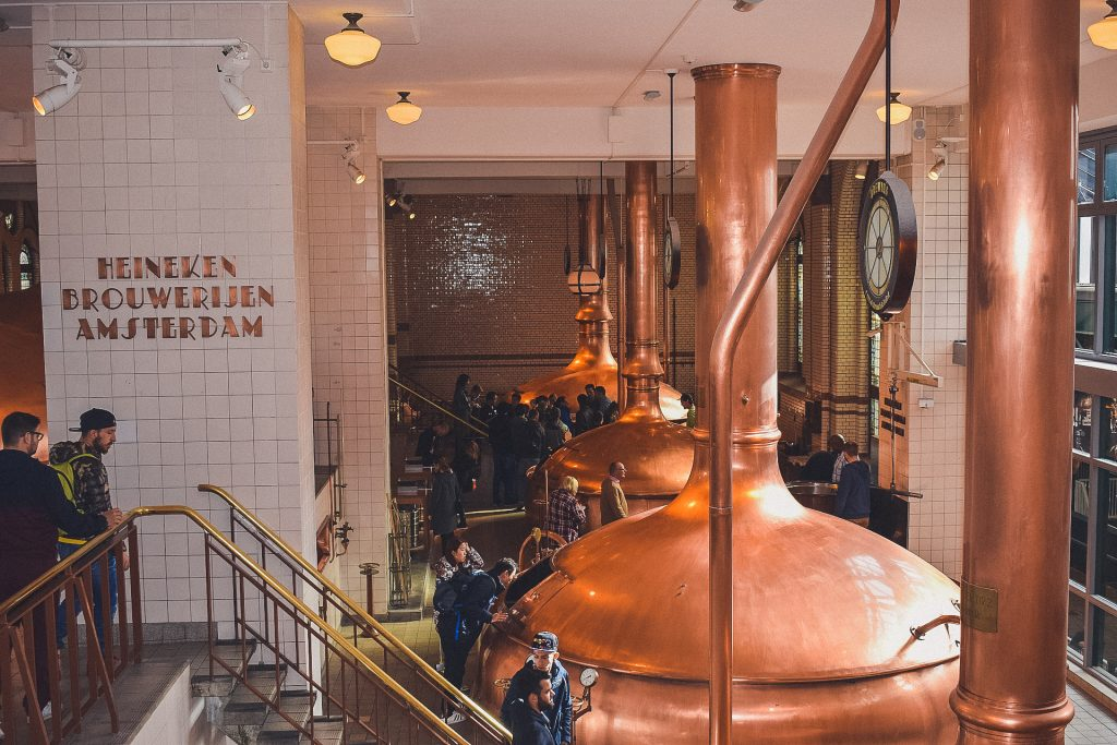 Inside the Heineken Brewery in Amsterdam