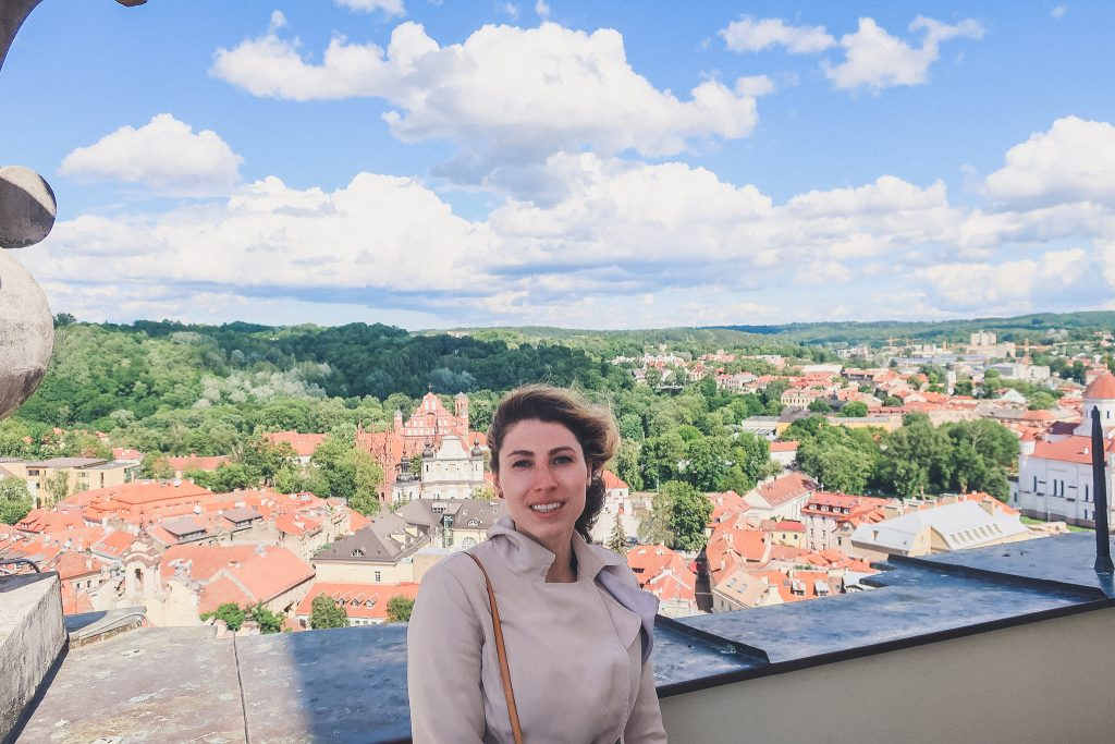 Views from the tower of St. Johns church in Vilnius