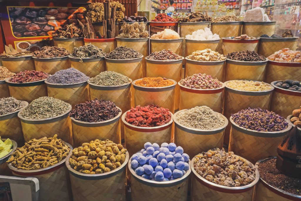 spices on sale at souk