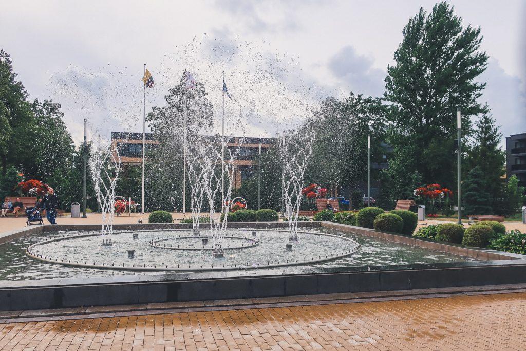 Musical Fountain in Palanga, Lithuania