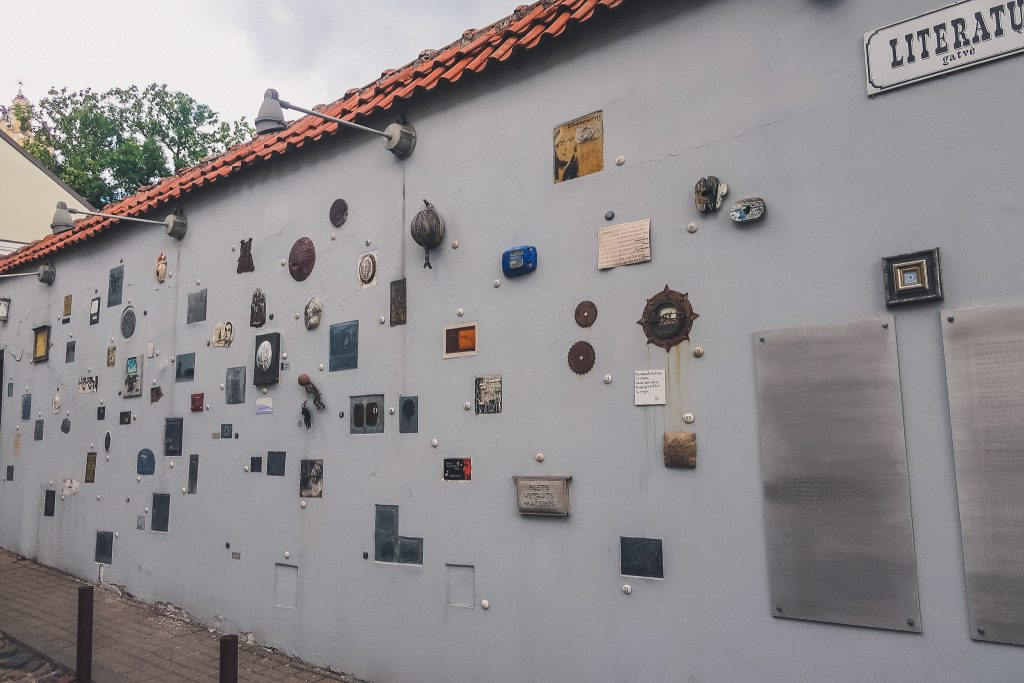 Literature Street in Vilnius -Living art installation