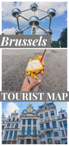Brussels Tourist Map pin